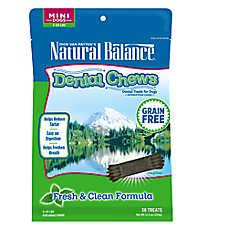 Natural Balance Grain Free Fresh & Clean Mini Dog Dental Chews