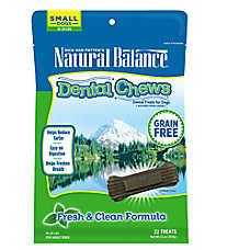 Natural Balance Grain Free Fresh & Clean Small Dog Dental Chews