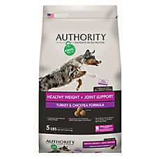 Authority® GNC Pets® Healthy Weight + Joint Support Adult Dog Food - Turkey & Chickpea