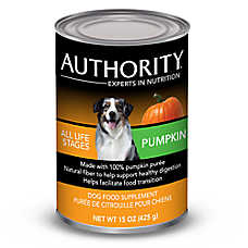 Authority® Dog Food Supplement - Pumpkin