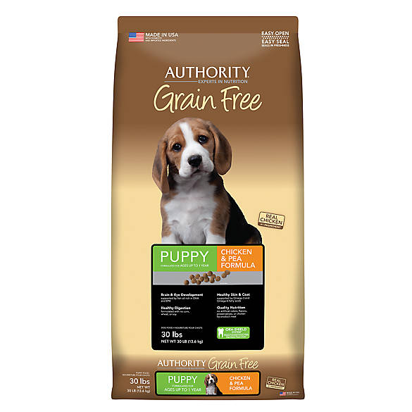 Authority 174 Grain Free Puppy Food Chicken Amp Pea Dog Dry