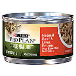 Purina® Pro Plan® TRUE NATURE™ Adult Cat Food - Natural, Essential Nutrients, Beef & Liver