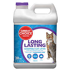 Grreat Choice® Long Lasting Cat Litter - Scoopable, Multi-Cat, Fragrance Free
