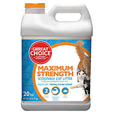 Grreat Choice® Maximun Strength Cat Litter - Scoopable, Multi-Cat, Fresh Scent