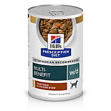 Hill's® Prescription Diet® w/d Digestive/Weight/Glucose Management Dog Food - Vegetable & Chicken