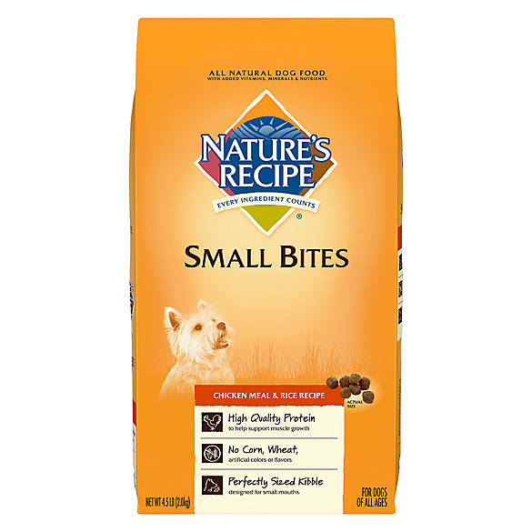 Nature Recipe Dog Food Natural Chicken Meal Rice Small Breed