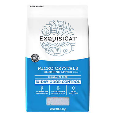 Exquisicat Fragrance Free Clumping Micro Crystals Cat Litter