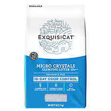 ExquisiCat® Fragrance Free Clumping Micro Crystals Cat Litter