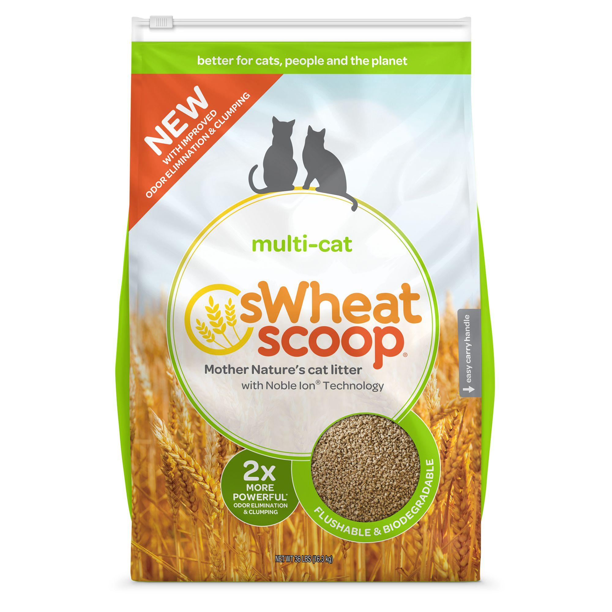sWheat Scoop Multi-Cat Natural Cat Litter - Clumping