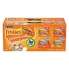 Purina® Friskies® Cat Food - Chicken Lovers, Variety Pack, 32 ct