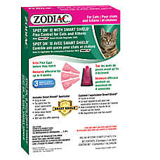 ZODIAC® Spot On® II with Smart Shield® Cat & Kitten Flea Treatment