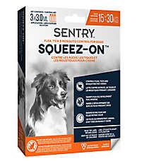 SENTRY® Squeez-On™ Flea, Tick & Mosquito Control for Dogs - 15-30 KG