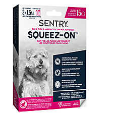 SENTRY® Squeez-On™ Flea, Tick & Mosquito Control for Dogs - Up to 15 KG