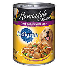 PEDIGREE® Homestyle Meals Adult Dog Food - Lamb & Rice, Stew