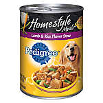PEDIGREE® Homestyle Meals Adult Dog Food - Lamb & Rice, Stew