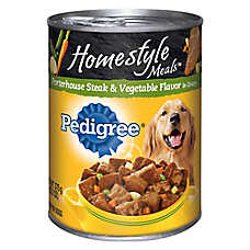 PEDIGREE® Homestyle Meals Adult Dog Food - Porterhouse Steak & Vegetable