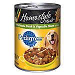 PEDIGREE® Homestyle Meals Adult Dog Food - Porterhouse Steak & Vegetable
