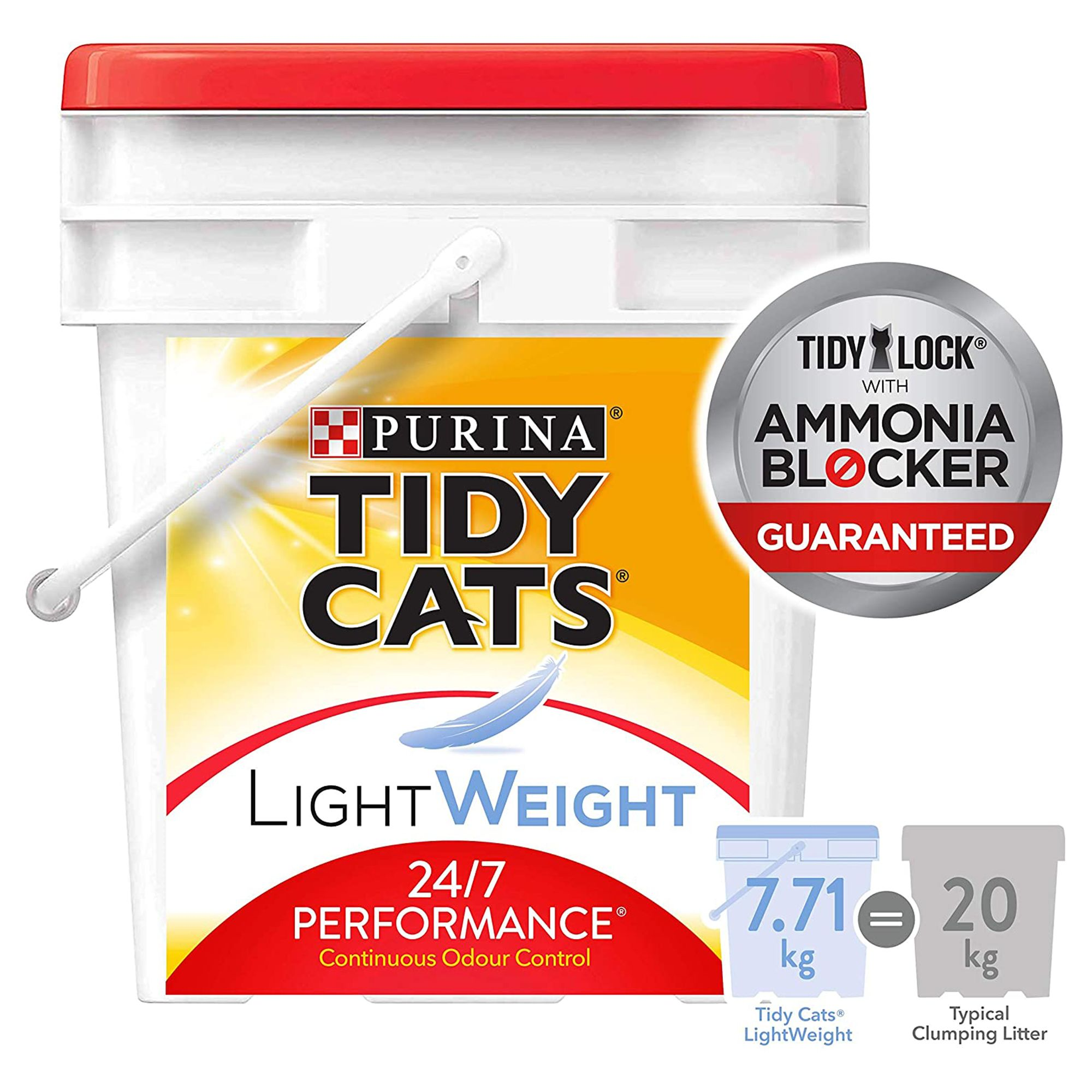 Purina Tidy Cats Light Weight 24/7 Performance Cat Litter - Clumping, Multiple Cats