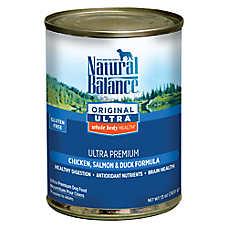 Natural Balance Original Ultra Whole Body Health Dog Food- Gluten Free, Chicken, Salmon & Duck