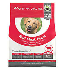 Only Natural Pet Canine PowerFood Dog Food- Limited Ingredient, Natural, Grain Free, Red Meat