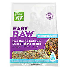 Only Natural Pet EasyRaw Dog Food - Raw, Grain Free, Dehydrated, Turkey & Sweet Potato