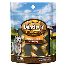 Dentley's® Nature's Chews Natural Bully Springs Small Dog Treat