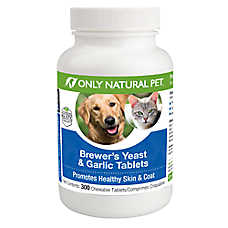 Only Natural Pet® Brewer's Yeast & Garlic Chewable Tablets