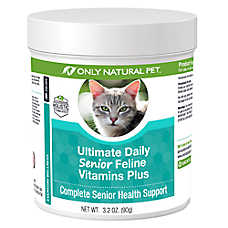 Only Natural Pet® Ultimate Daily Senior Feline Vitamins Plus Powder