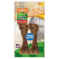 Nylabone® Healthy Edibles® Natural, Grain Free, Turkey, Meduim Dog Treat