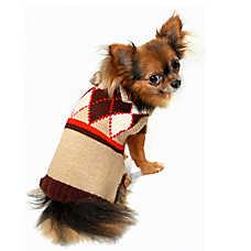 Hip Doggie Argyle Sweater