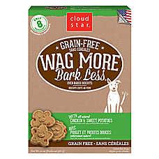 Cloud Star® Wag More Bark Less® Dog Treat - Natural, Grain Free, Chicken & Sweet Potatoes