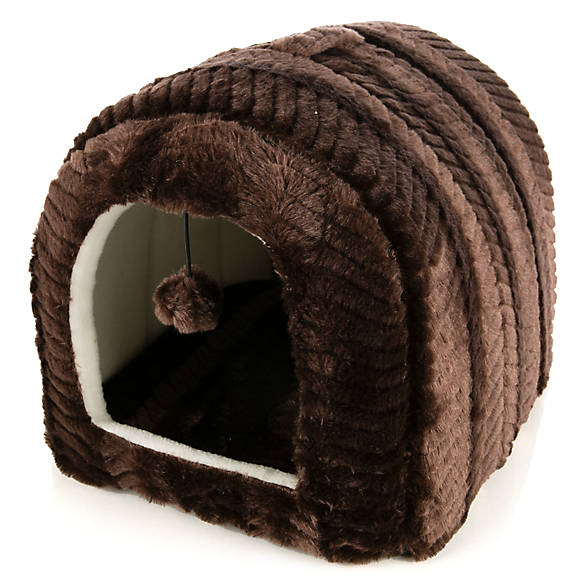 Whisker City® Cat Bed Hut | cat Covered Beds | PetSmart