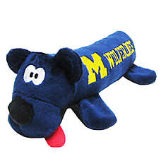 University of Michigan Wolverines NCAA Tube Dog Toy