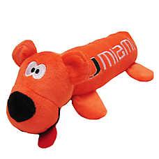 University of Miami Hurricanes NCAA Tube Dog Toy