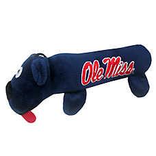 Ole Miss Rebels NCAA Tube Dog Toy