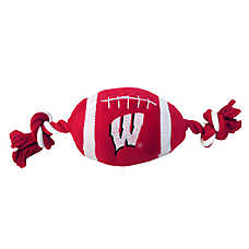 Wisconsin Badgers NCAA Football Dog Toy