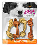 Dentley's® Chase & Chew Knotted Rope Small Dog Treat - Chicken & Sweet Potato