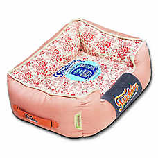Pet Life Touchdog Vintage Flower Cuddler Dog Bed