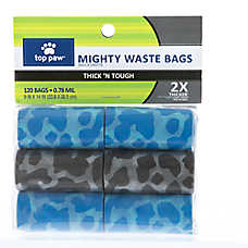 Top Paw® Thick 'N Tough Mighty Pick Up Waste Bags
