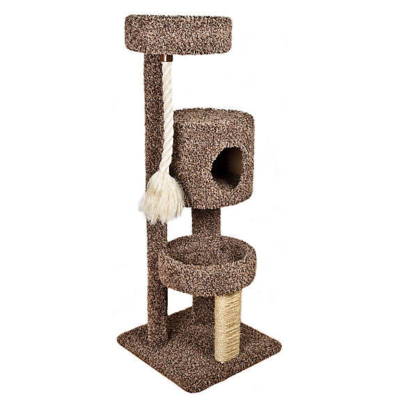 Whisker City 174 Three Story Tower Rope Cat Scratcher Cat
