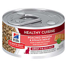Hill's® Science Diet® Healthy Cuisine Adult Cat Food - Poached Salmon & Spinach