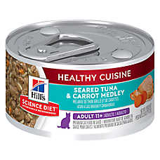 Hill's® Science Diet® Healthy Cuisine Senior Cat Food - Seared Tuna & Carrot