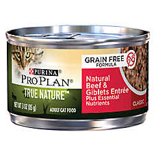 Purina® Pro Plan® True Nature™ Adult Cat Food - Grain Free, Natural, Beef & Giblets