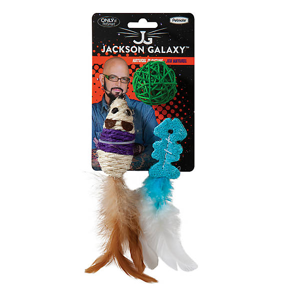Jackson galaxy natural playtime cat toys 3 pack cat for Jackson galaxy petsmart