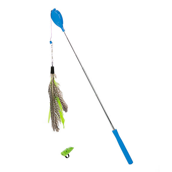 Jackson galaxy air prey wand with laser teaser cat toy for Jackson galaxy petsmart
