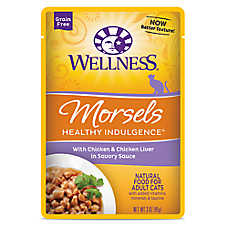 Wellness® Healthy Indulgence Morsels Adult Cat Food - Grain Free, Natural, Chicken & Chicken Liver