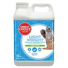 Grreat Choice® Lightweight Cat Litter - Scoopable, Multi-Cat, Fresh Scent