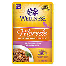 Wellness® Healthy Indulgence Morsels Adult Cat Food - Grain Free, Natural, Salmon & Tuna