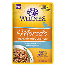 Wellness® Healthy Indulgence Morsels Adult Cat Food - Grain Free, Natural, Turkey & Duck