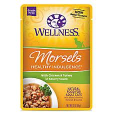 Wellness® Healthy Indulgence Morsels Adult Cat Food - Grain Free, Natural, Chicken & Turkey